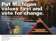 Put Michigan Values First and Vote for Change