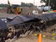 Corroded section of pipe that caused the Kalamazoo River Oil Spill